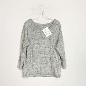 Athleta | pullover sweatshirt grey pockets large